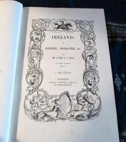 1850 Ireland,  Its Scenery & Character by Mr & Mrs Hall, Complete in 3 Fine Leather Volumes (5 of 9)
