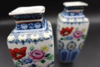 Pair of Early 20th Century Losol Ware Miniature Square Section Vases (4 of 6)