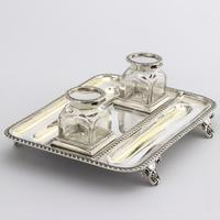 Quality Silver Inkstand with Twin Inkbottles by Elkington & Co. 1898 (6 of 12)