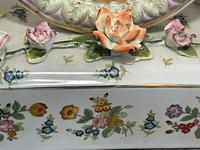 Pair of Small Dresden Victorian Style Porcelain Cherub Table Mirrors (6 of 60)