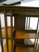 Large 19th Century Oak Revolving Bookcase (4 of 9)