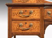 Late 19th Century Rosewood & Marquetry Ladies Writing Table (4 of 4)