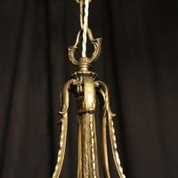 French Pair of Silver Gilded Bronze Lanterns (3 of 8)