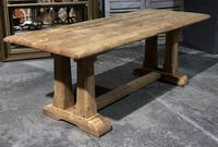 French Bleached Oak Trestle Farmhouse Dining Table (4 of 18)