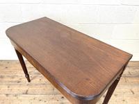 19th Century Mahogany & Boxwood Fold Over Table (6 of 10)
