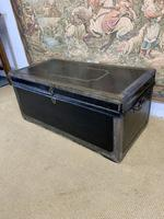 Leather & Brass Bound Camphor Wood Trunk (4 of 5)