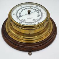 19th Century Brass & Oak Mounted Ships Barometer (2 of 2)