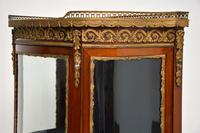 Antique French Mahogany & Marble Display Cabinet Vitrine (8 of 10)