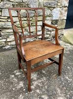 Antique Country Oak Armchair (3 of 14)