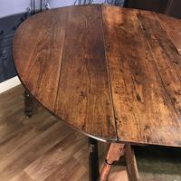 Georgian Oak Drop Leaf Table (9 of 11)