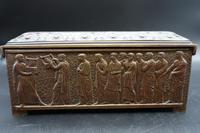 Beautifully Cast Late 19th Century Continental Bronze Jewellery Box (6 of 6)
