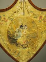 Pair of Late George III Mahogany Pole Screens (5 of 11)