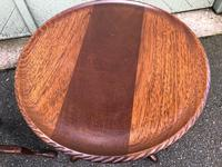 Pair of Antique Mahogany Tripod Wine Tables (8 of 8)