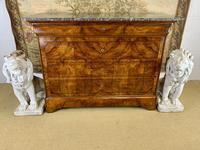 19th Century Burr Walnut Marble Top Commode (2 of 8)