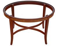 Edwardian Mahogany & Satin Walnut Tray on Stand Coffee Table c.1905 (6 of 7)