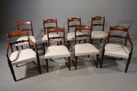 Attractive Set of 8 / 6+2 Regency Period Mahogany Chairs
