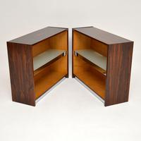 Pair of Rosewood & Chrome Bookcase / Cabinets by Merrow Associates (5 of 12)