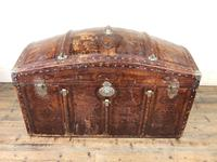 Large Leather Bound Dome Top Trunk (5 of 15)