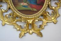 Italian Porcelain Plaque in Giltwood Hand Carved Frame Madonna & Child (6 of 7)