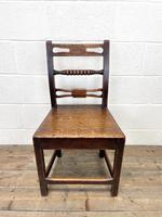 Set of Six Georgian Oak Country Chairs (5 of 10)