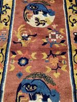 Antique Chinese Ningxia Rug 1.59m x 0.74m (4 of 9)