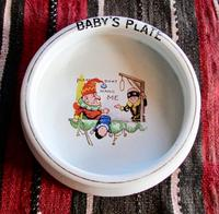 """Punch & Judy Design, Baby Plate Titled """"Please Don't Hang Me"""","""
