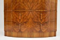 1930's Art Deco Figured Walnut Wardrobe (12 of 12)