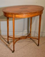 Late 19th Century Oval Satinwood Inlaid Table (5 of 6)