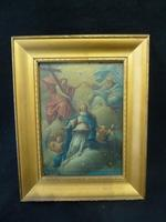 "18th / 19th Century Old Master Painting ""Coronation of the Madonna"" Signed"