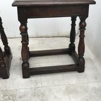 Pair of Oak Coffin Stools Circa Late 17th Century (4 of 24)