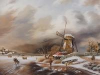 Oil on Board Dutch Landscape Artist Thomassini (4 of 10)