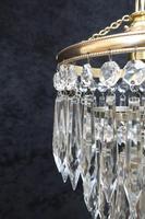 Italian  Art Deco 3 Tier Crystal Glass Chandelier (5 of 7)