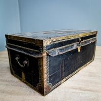 Victorian Leather & Brass Studded Trunk (3 of 14)