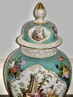 Stunning Very Large Late 19th Century Helena Wolfsohn Dresden Vase + Cover (11 of 11)