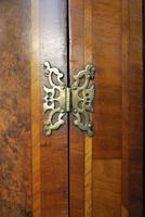 Antique Burr Walnut Corner Cupboard (9 of 9)