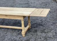 Large Bleached Oak Farmhouse Dining Table with Extensions & Storage (26 of 35)
