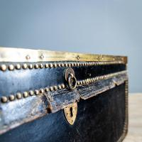 Victorian Leather & Brass Studded Trunk (4 of 14)