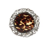 Antique Victorian Sterling Silver & Tortoiseshell Tray / Dish 1888 (9 of 9)