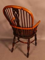 Good Yew Wood High Back Windsor Chair Rockley Maker (4 of 11)