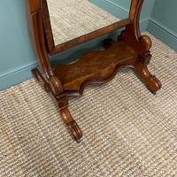 Fine Quality Figured Mahogany Victorian Antique Cheval Mirror (6 of 6)