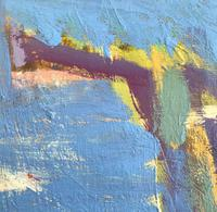 Original Abstract Oil on Board 'Santorini' by Frank Beanland - Initialled. c.1985 (2 of 3)
