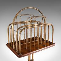 Antique Newspaper Rack, French, Oak, Magazine, Music Stand, Victorian c.1900 (7 of 11)