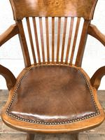 Early 20th Century Antique Swivel Desk Chair (3 of 10)