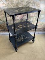 19th Century Three Tiered Lacquered Stand (6 of 6)