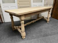 French Rustic Bleached Oak Farmhouse Kitchen Table (7 of 23)