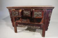 19th Century Chinese Alter Table with Elaborately Carved Facade (5 of 7)