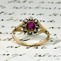 The Antique Victorian Ruby & Ten Diamond Ring (5 of 5)