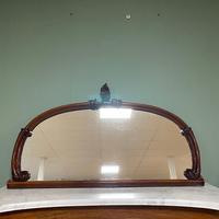 Victorian Mahogany Antique Overmantle Mirror (3 of 7)
