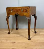 Lacquered Walnut Table with Drawer (5 of 9)