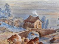 Watercolour The Glen Monogrammed A M 1863 (4 of 12)